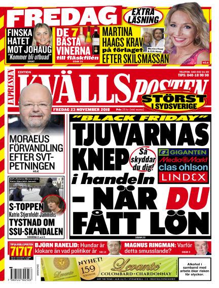 Kvällsposten November 23, 2018 00:00