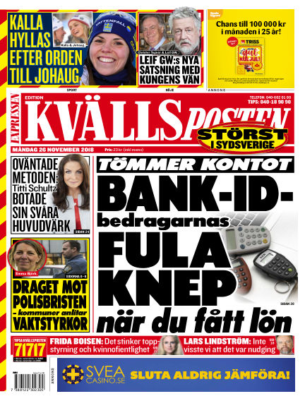 Kvällsposten November 26, 2018 00:00
