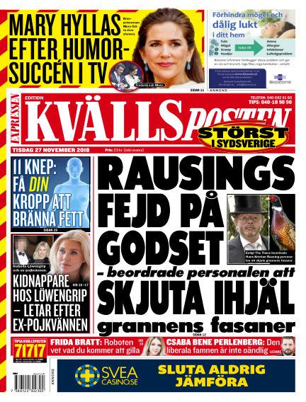 Kvällsposten November 27, 2018 00:00