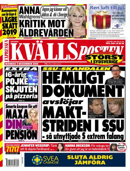 Kvällsposten December 03, 2018 00:00