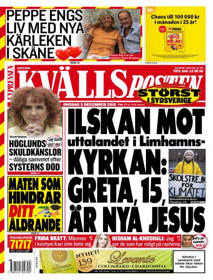 Kvällsposten December 05, 2018 00:00