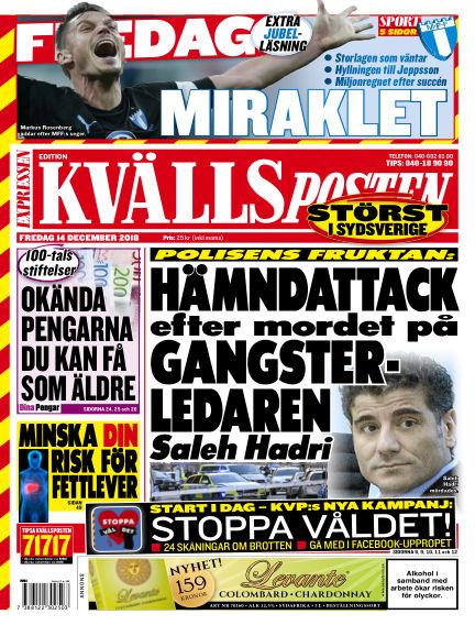 Kvällsposten December 14, 2018 00:00