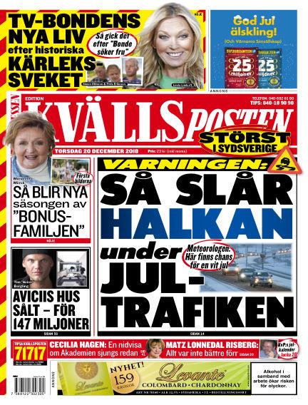 Kvällsposten December 20, 2018 00:00