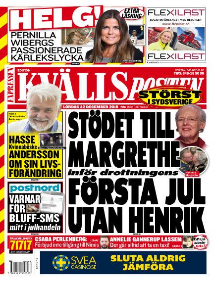 Kvällsposten December 22, 2018 00:00