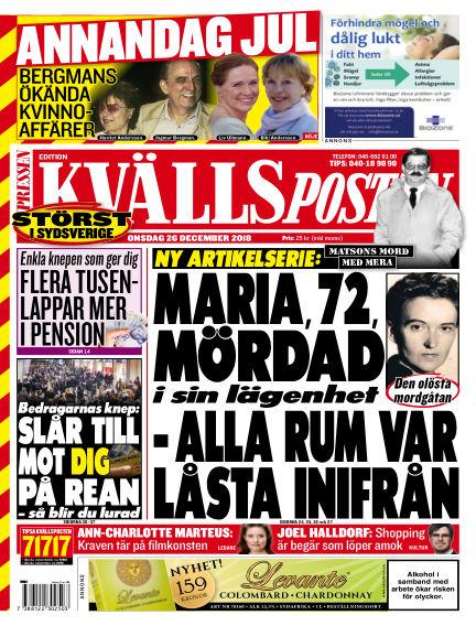 Kvällsposten December 26, 2018 00:00