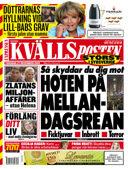 Kvällsposten December 27, 2018 00:00