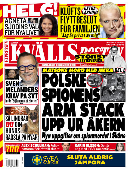 Kvällsposten December 30, 2018 00:00