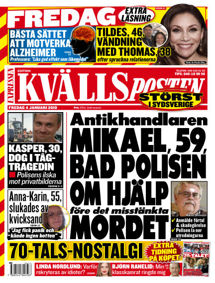 Kvällsposten January 04, 2019 00:00