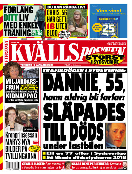 Kvällsposten January 10, 2019 00:00