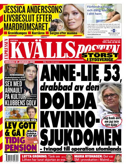 Kvällsposten January 16, 2019 00:00
