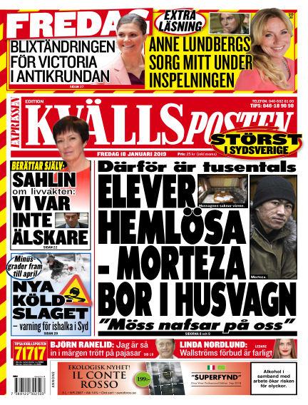 Kvällsposten January 18, 2019 00:00