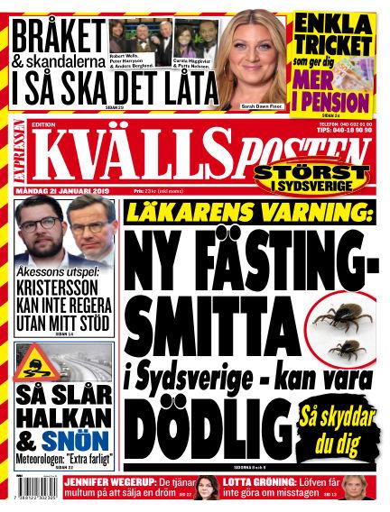 Kvällsposten January 21, 2019 00:00