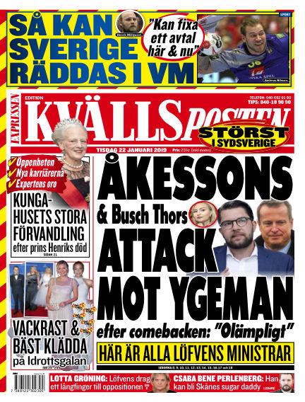 Kvällsposten January 22, 2019 00:00
