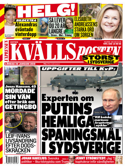 Kvällsposten January 26, 2019 00:00