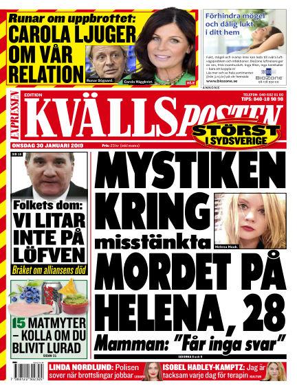 Kvällsposten January 30, 2019 00:00
