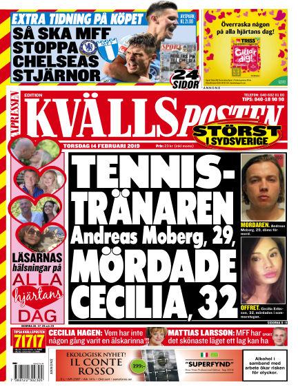 Kvällsposten February 14, 2019 00:00