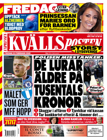 Kvällsposten February 15, 2019 00:00