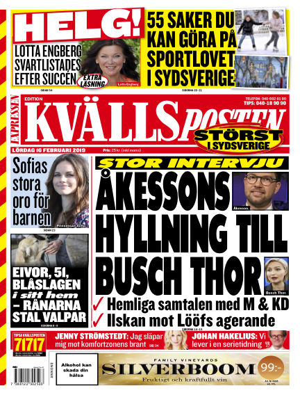 Kvällsposten February 16, 2019 00:00