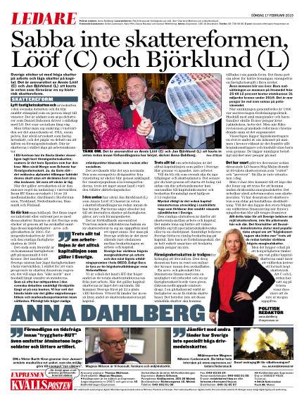 Kvällsposten February 17, 2019 00:00