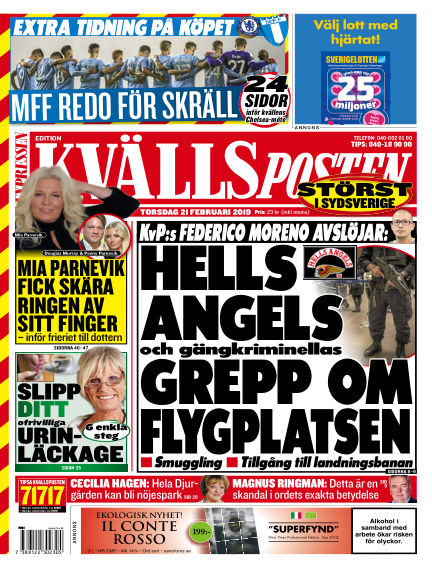 Kvällsposten February 21, 2019 00:00