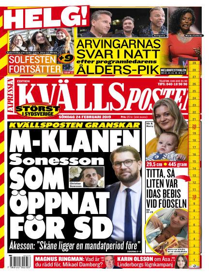 Kvällsposten February 24, 2019 00:00