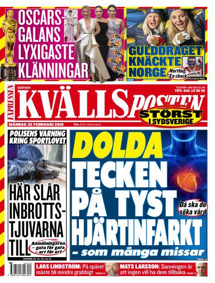 Kvällsposten February 25, 2019 00:00