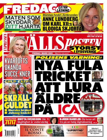 Kvällsposten March 01, 2019 00:00