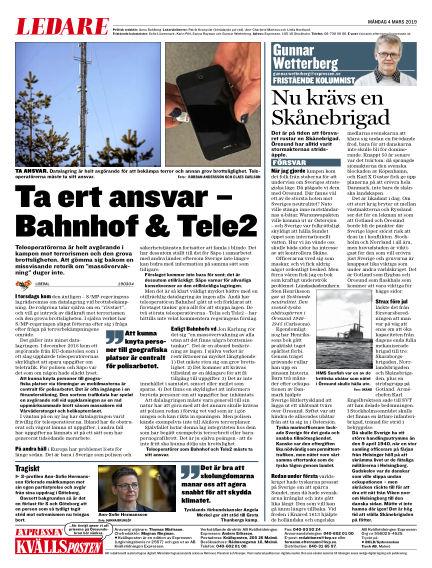 Kvällsposten March 04, 2019 00:00