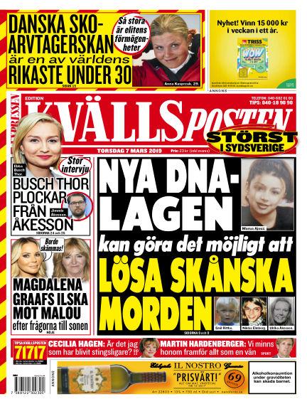 Kvällsposten March 07, 2019 00:00