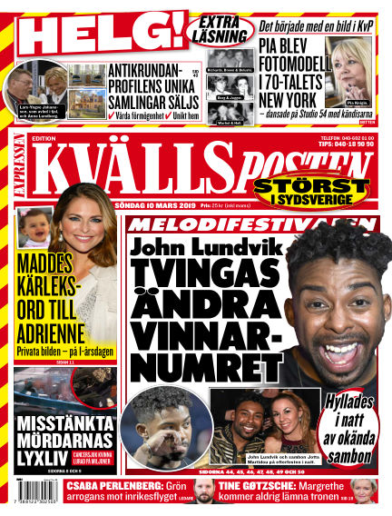 Kvällsposten March 10, 2019 00:00