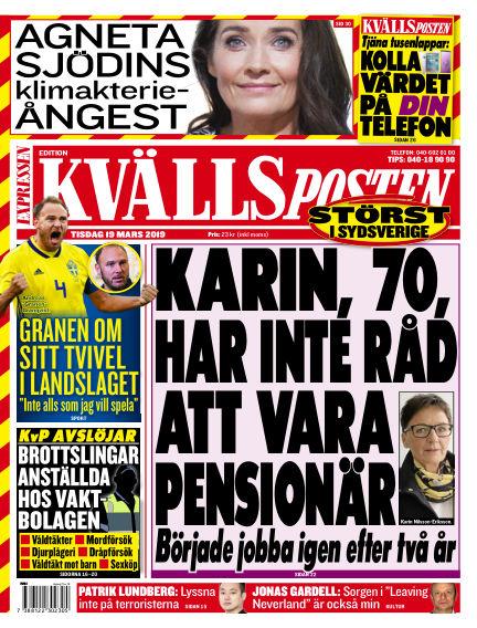 Kvällsposten March 19, 2019 00:00