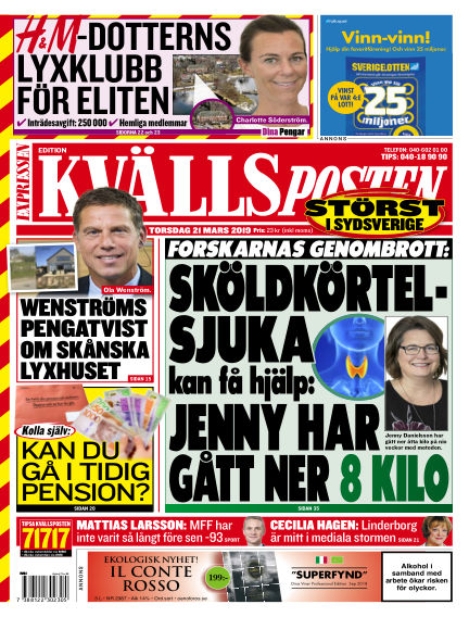 Kvällsposten March 21, 2019 00:00