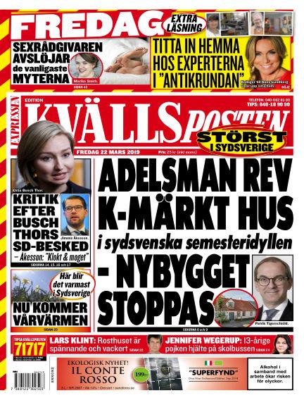 Kvällsposten March 22, 2019 00:00