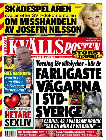 Kvällsposten March 25, 2019 00:00