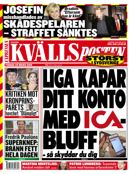 Kvällsposten March 26, 2019 00:00
