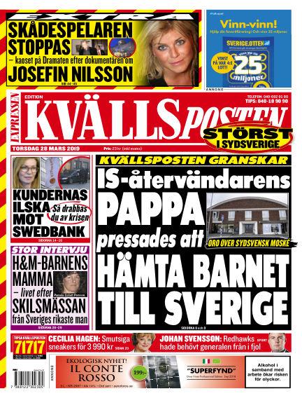 Kvällsposten March 28, 2019 00:00