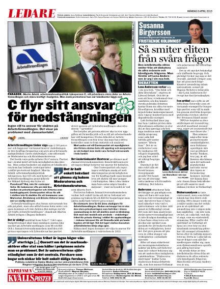 Kvällsposten April 08, 2019 00:00