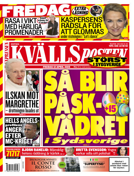 Kvällsposten April 12, 2019 00:00
