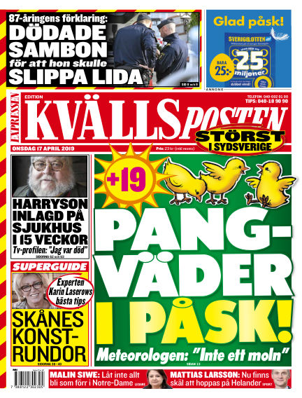 Kvällsposten April 17, 2019 00:00