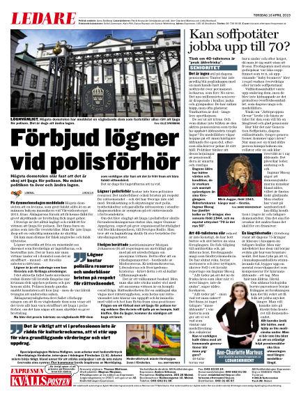 Kvällsposten April 18, 2019 00:00