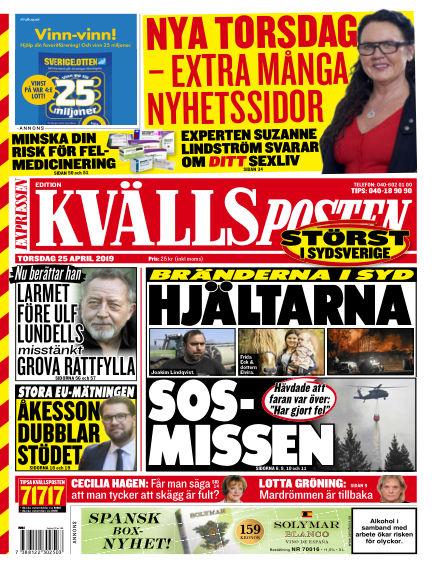 Kvällsposten April 25, 2019 00:00