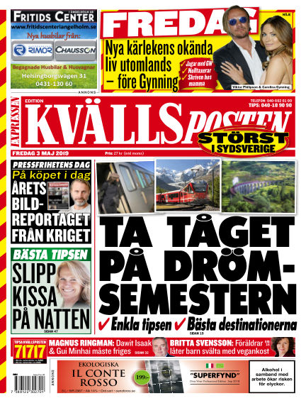 Kvällsposten May 03, 2019 00:00