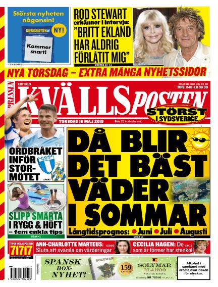Kvällsposten May 16, 2019 00:00
