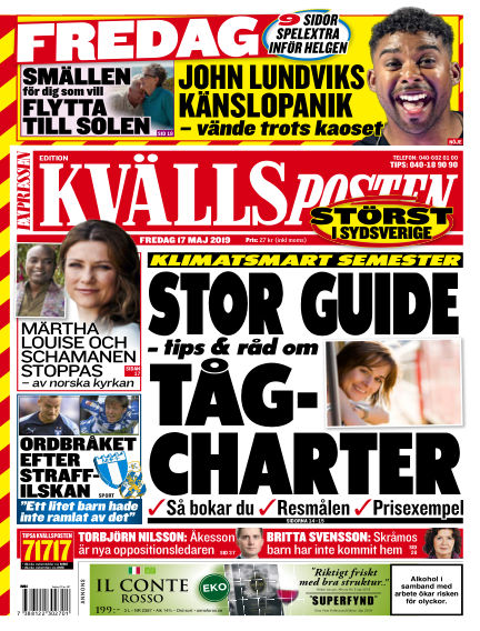 Kvällsposten May 17, 2019 00:00