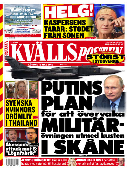 Kvällsposten May 18, 2019 00:00