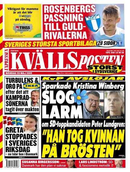 Kvällsposten May 20, 2019 00:00
