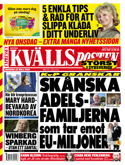 Kvällsposten May 22, 2019 00:00