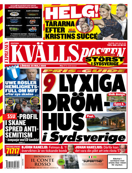 Kvällsposten May 25, 2019 00:00