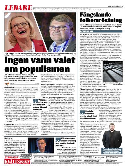 Kvällsposten May 27, 2019 00:00