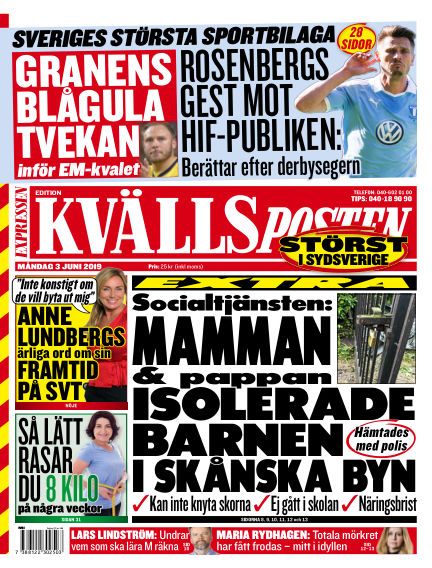 Kvällsposten June 03, 2019 00:00